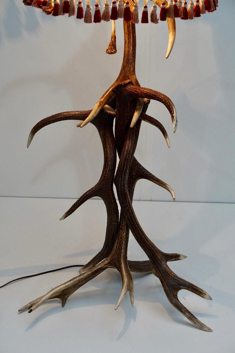 Impressive Rustic Deer Antler Floor Lamp, 1950s, Austria For Sale 10