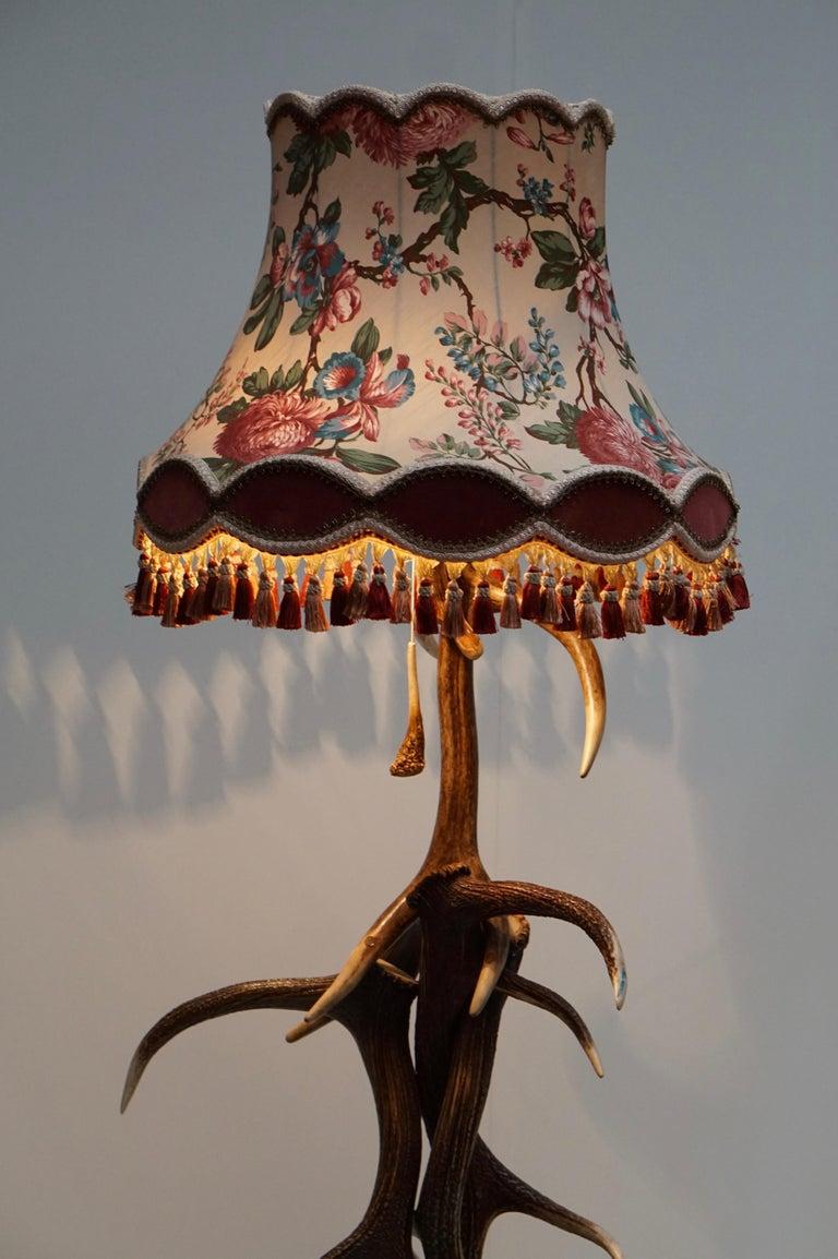 Impressive Rustic Deer Antler Floor Lamp, 1950s, Austria For Sale 2