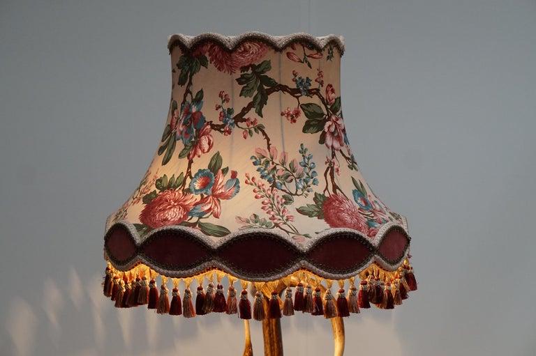 Impressive Rustic Deer Antler Floor Lamp, 1950s, Austria For Sale 3