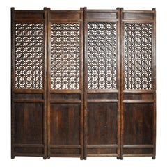 Impressive Set of 4 Chinese Courtyard Doors