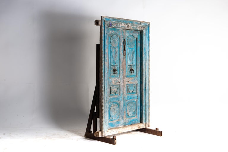 20th Century Impressive Set of Indian Doors with Surround For Sale