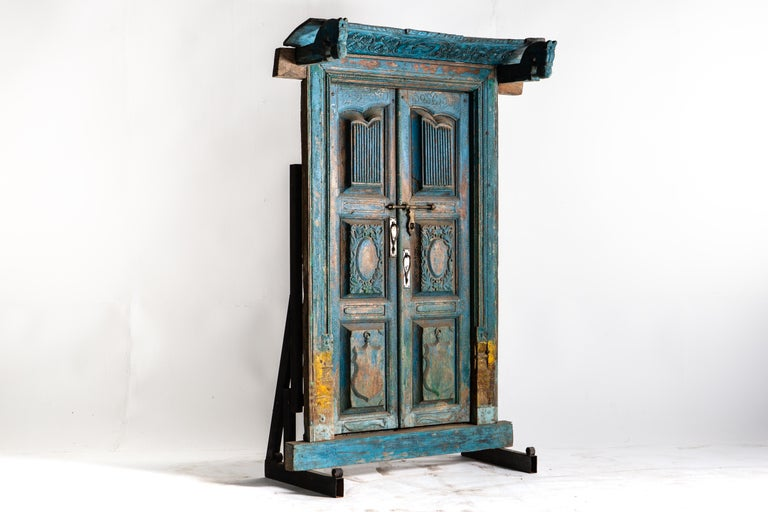 Mid-20th Century Impressive Set of Indian Doors with Surround For Sale