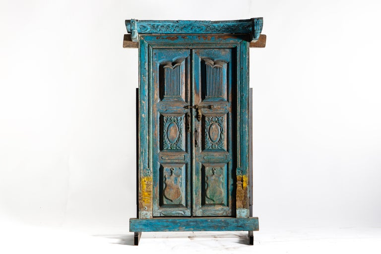 Impressive Set of Indian Doors with Surround For Sale 2