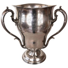 Impressive Sterling Silver 1908–1913 Pierce Cycle Company Perpetual Trophy