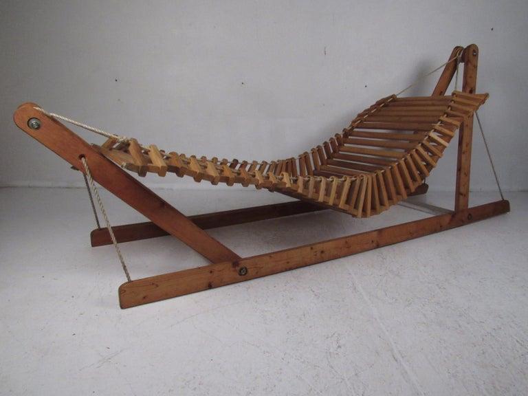 Impressive Studio Made Wooden Hammock For Sale At 1stdibs