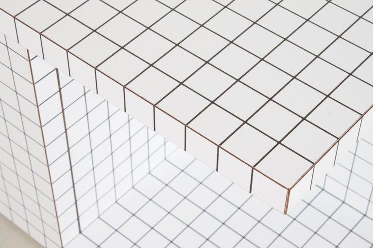 Mid-Century Modern Impressive Superstudio 'Quaderna' End Table, 1971