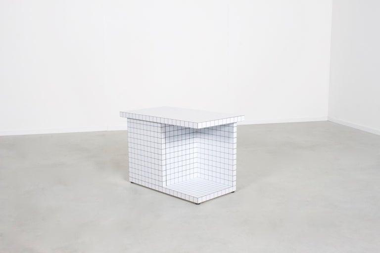 Italian Impressive Superstudio 'Quaderna' End Table, 1971