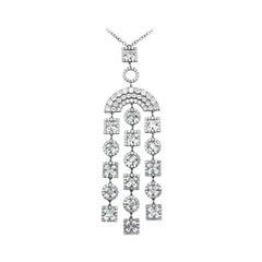 Impressive Topaz White Gold Zircon Drop Necklace