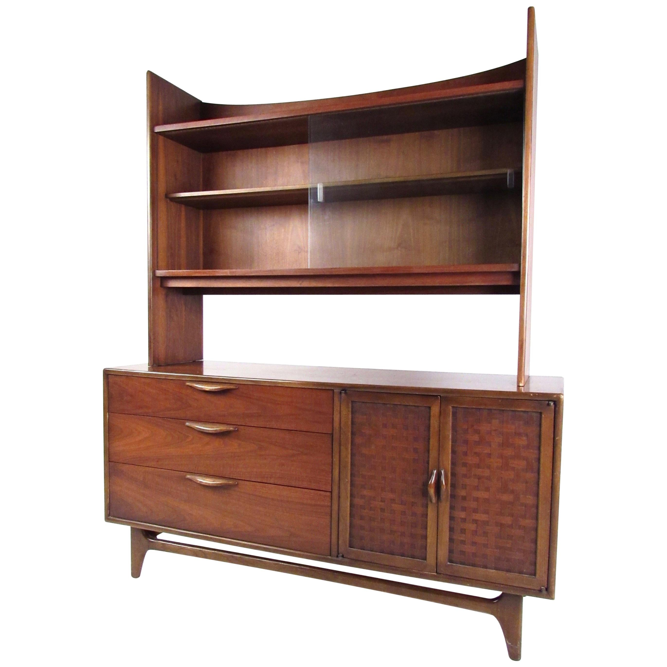 Impressive Two-Piece Sideboard with Display Shelf by Lane