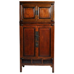 Impressive Two Section Cabinet with Five Drawers