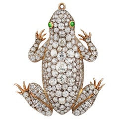 Impressive Victorian Diamond-Set Frog