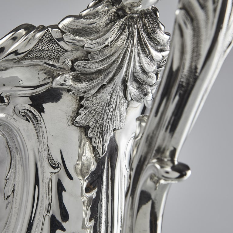 Impressive Victorian Silver Pedestal Bowl For Sale 4
