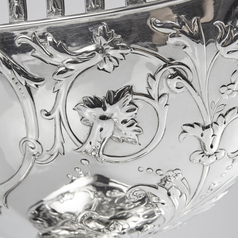 Impressive Victorian Silver Pedestal Bowl For Sale 3