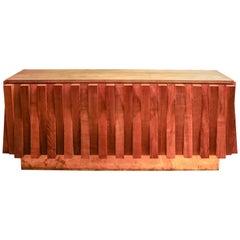 Impressive Vintage Wood Sideboard