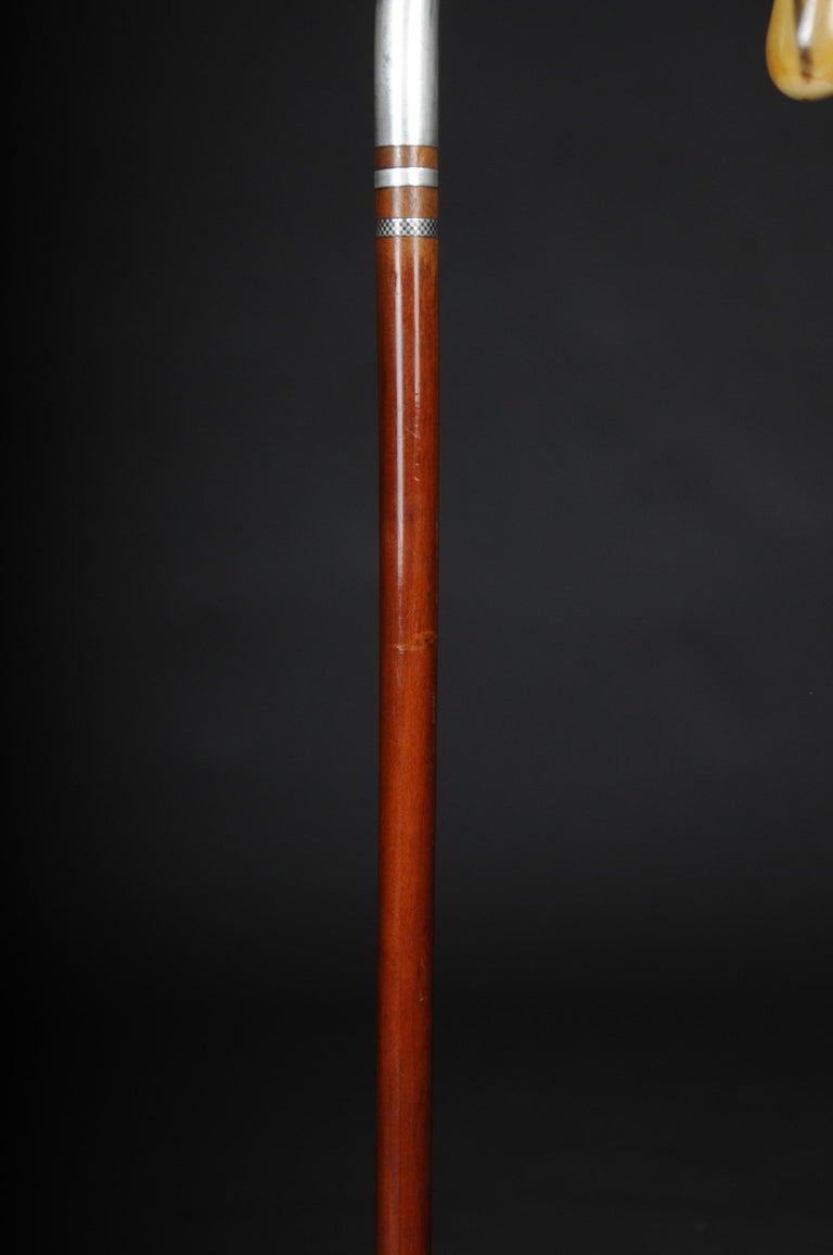 Impressive Walking Stick / Strolling Stick 835 Silver For Sale 5