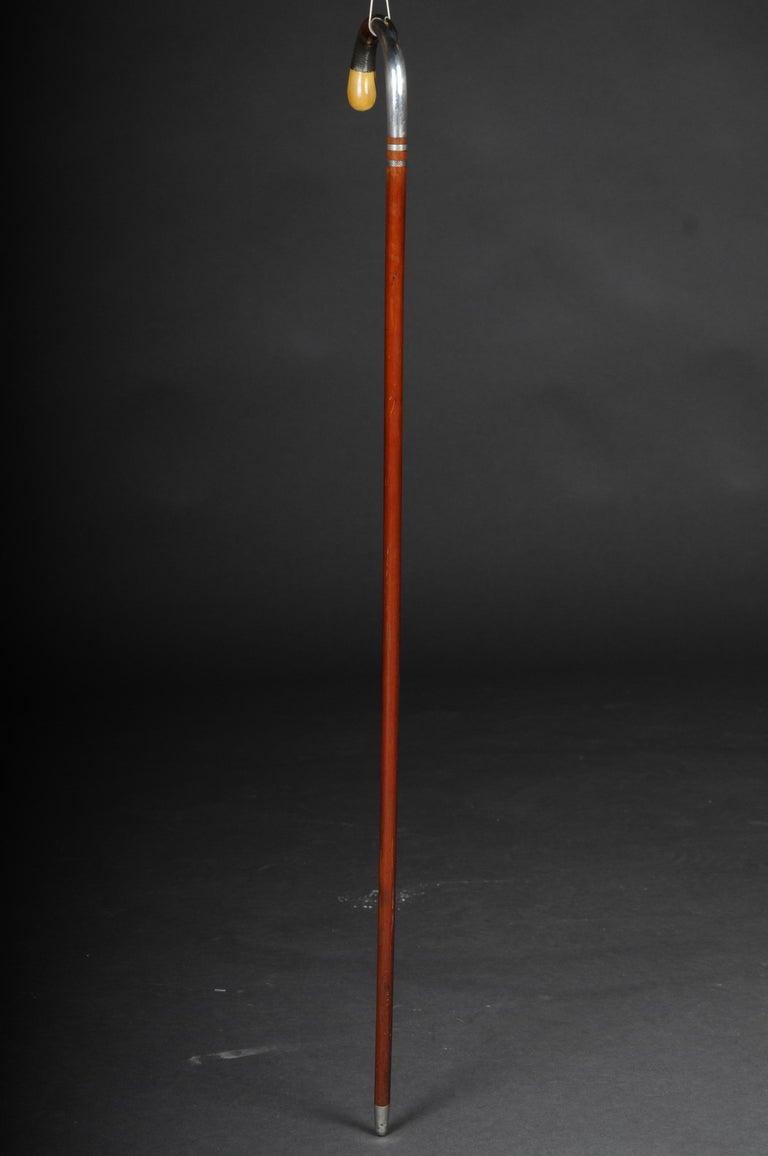 Biedermeier Impressive Walking Stick / Strolling Stick 835 Silver For Sale