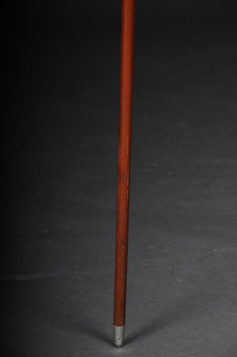 German Impressive Walking Stick / Strolling Stick 835 Silver For Sale