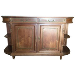 Impressive Walnut Louis XVI Style Server