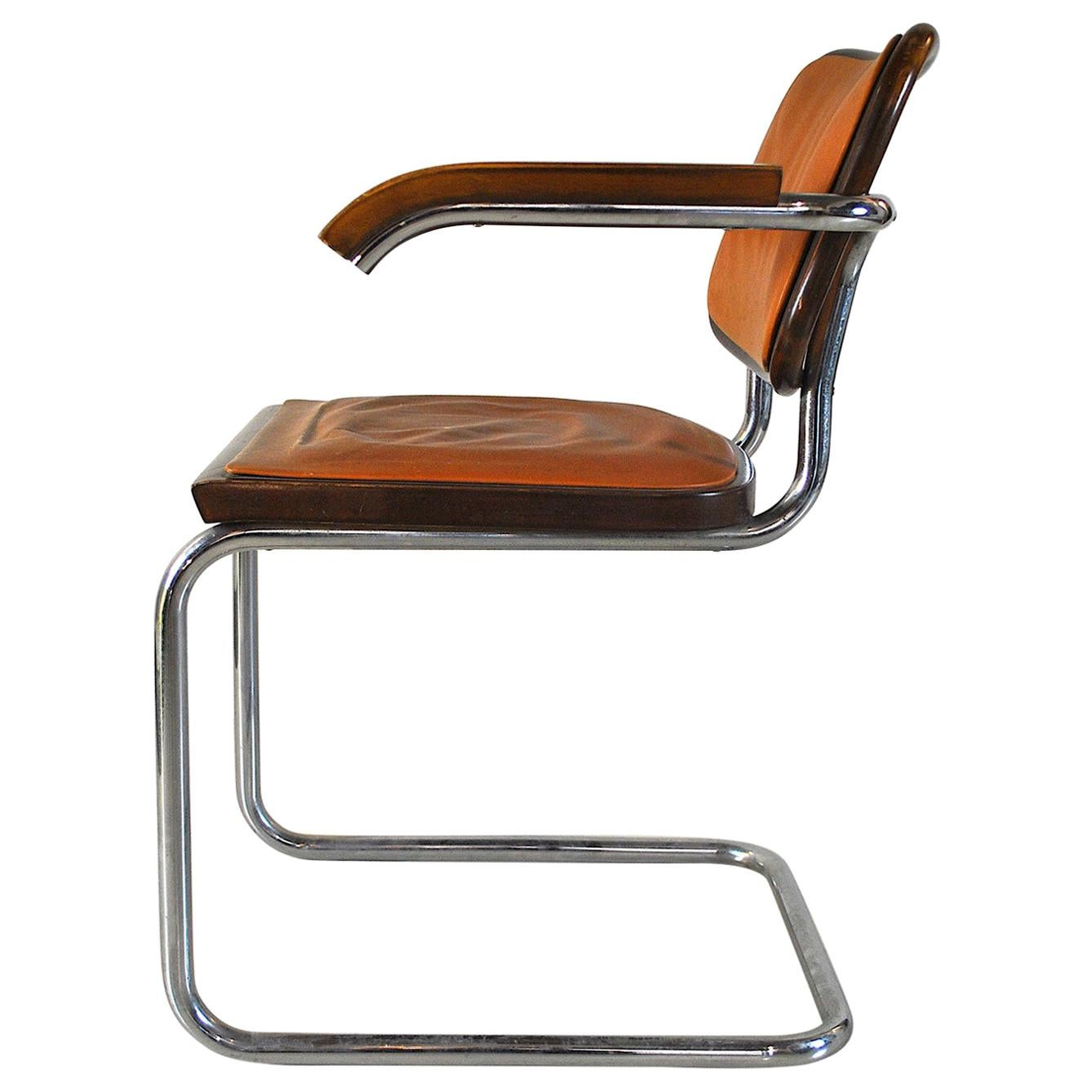 In a Style Marcel Breuer Chair Model Cesca