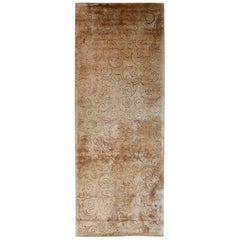 In-Canto Warm Colors Floral Handwoven Viscose Rug by Deanna Comellini 200x510 cm