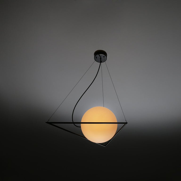 Polish In-Circle Pendant Lamp by Olek Vojtek For Sale