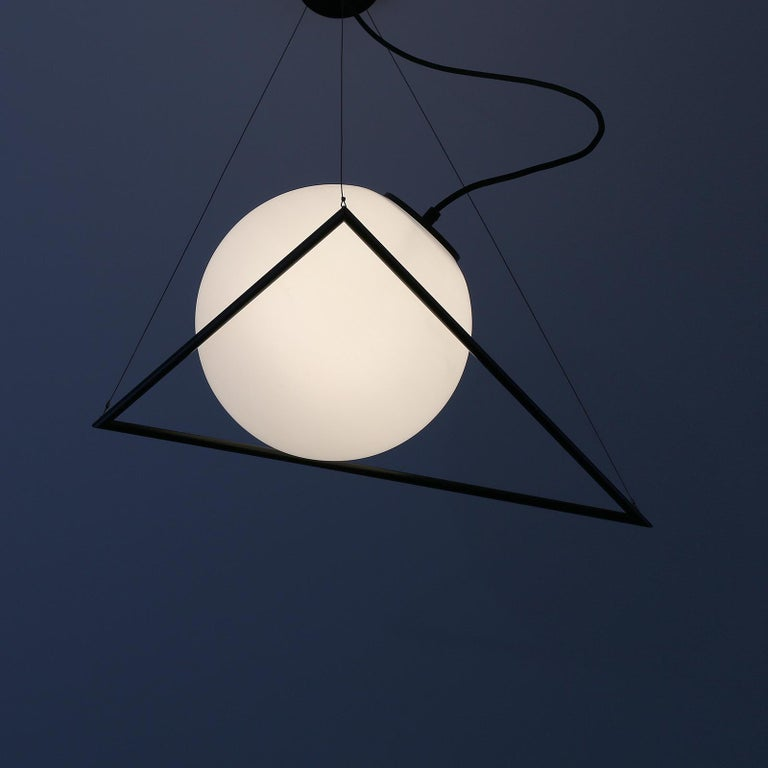 In-Circle Pendant Lamp by Olek Vojtek In New Condition For Sale In Collonge Bellerive, Geneve, CH