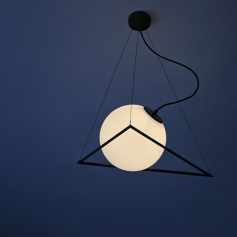 Contemporary In-Circle Pendant Lamp by Olek Vojtek For Sale