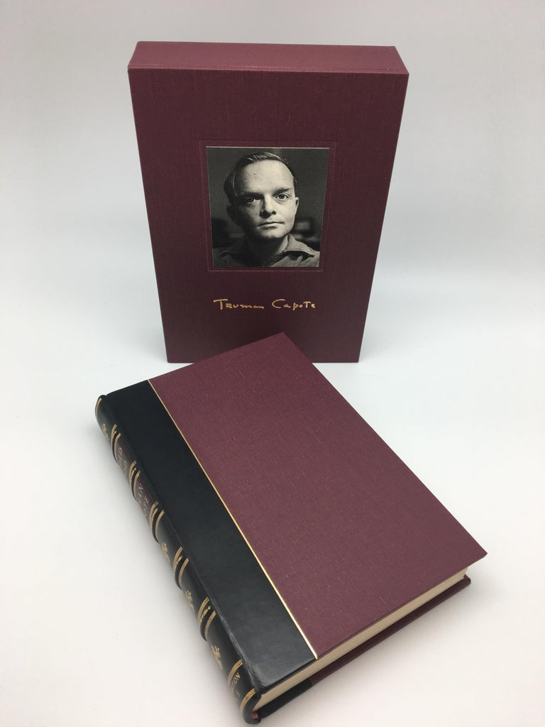 Capote, Truman, In Cold Blood. New York: Random House, Inc., 1965. First edition, first printing. Octavo, custom quarter leather binding with gilt tooling and raised bands on spine and matching slipcase.   This is a first edition printing of In