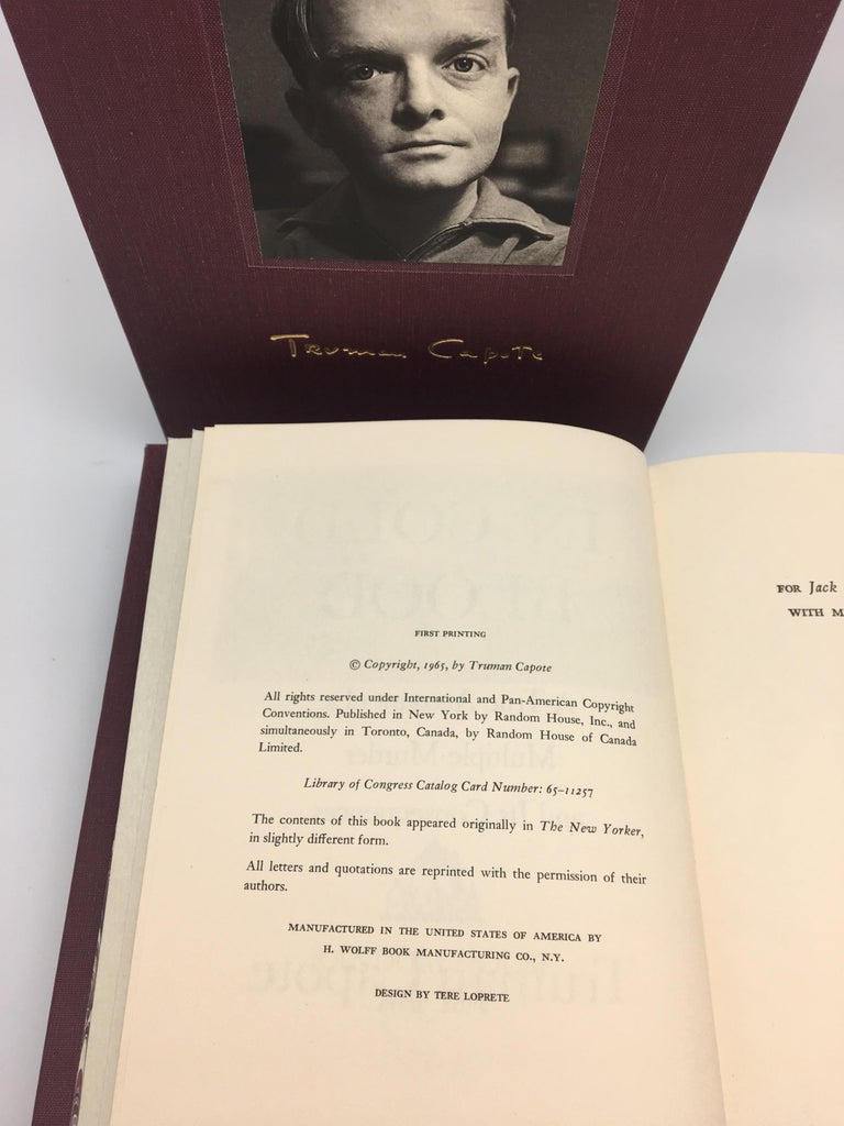 American In Cold Blood by Truman Capote, First Edition, First Printing, 1965 For Sale