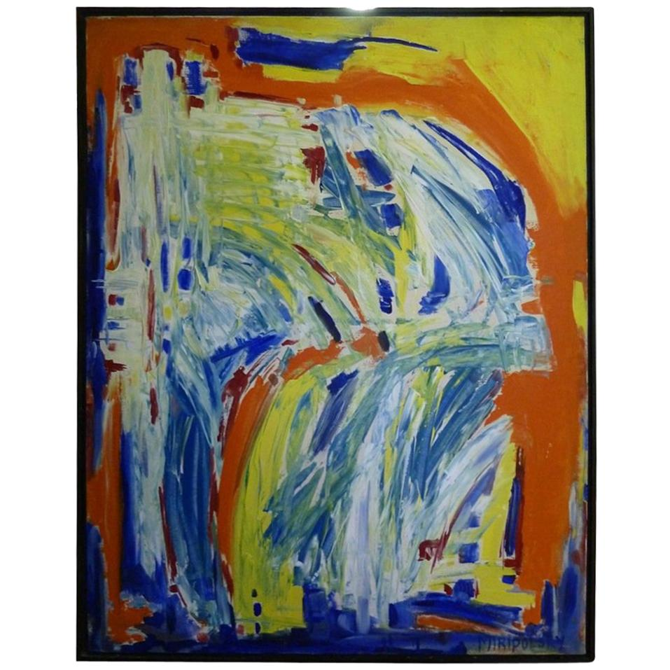 """In Motion"" Colorful Abstract Painting by Bert Miripolsky"