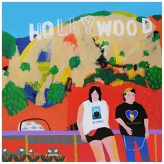 'In Search of DiCaprio' Portrait Painting by Alan Fears Hollywood