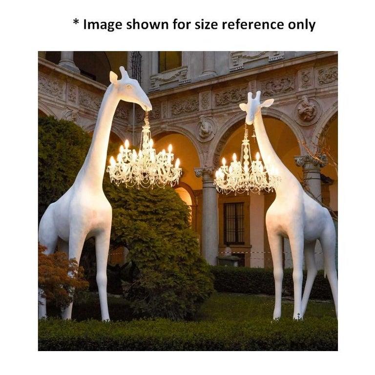 Modern In Stock in Los Angeles, 13 Feet Tall Black Giraffe Outdoor Chandelier For Sale