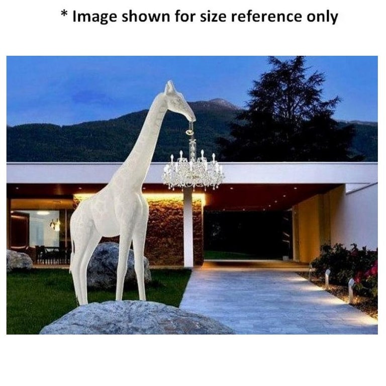 In Stock in Los Angeles, 13 Feet Tall Black Giraffe Outdoor Chandelier In New Condition For Sale In Beverly Hills, CA