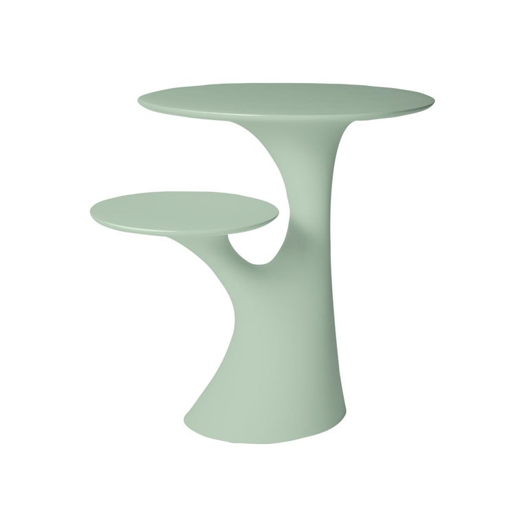 Modern In Stock in Los Angeles, Balsam Green Rabbit Children Table, Made in Italy For Sale