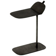 In Stock in Los Angeles, Black Wam Side Table by Marco Zito, Made in Italy