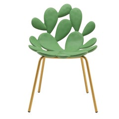 In Stock in Los Angeles, Green / Brass Cactus Chair by Marcantonio Made in Italy