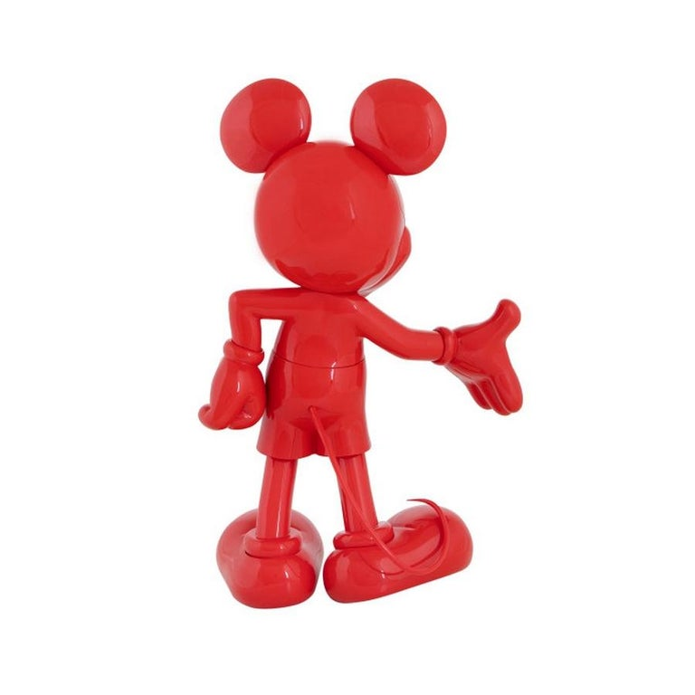 In Stock in Los Angeles, Mickey Mouse Glossy Red, Pop Sculpture Figurine In New Condition For Sale In Beverly Hills, CA