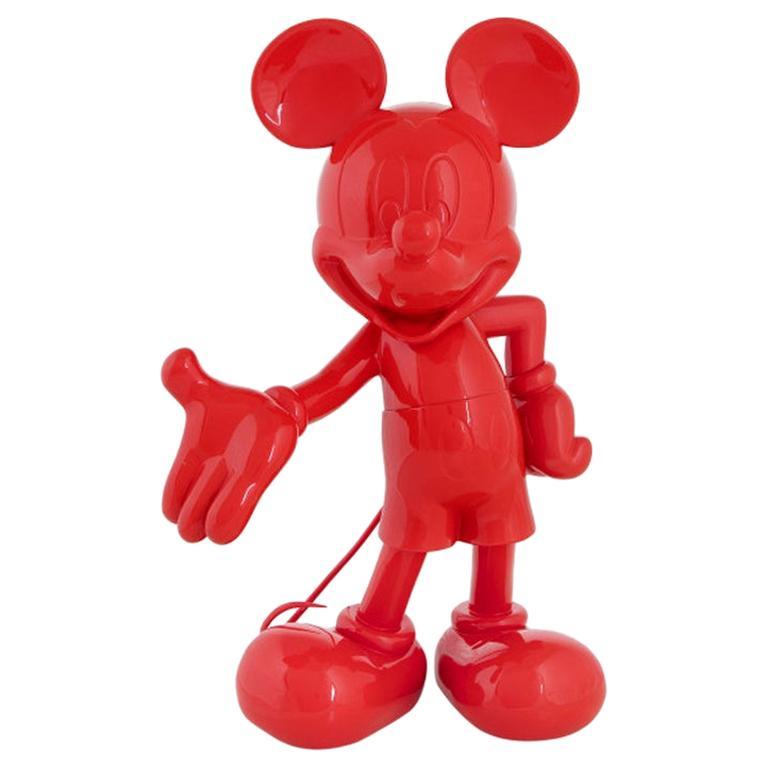 In Stock in Los Angeles, Mickey Mouse Glossy Red, Pop Sculpture Figurine For Sale