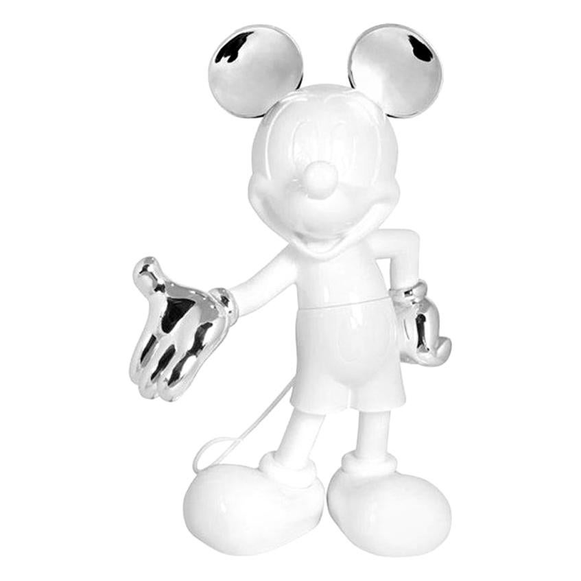 In Stock in Los Angeles, Mickey Mouse Glossy White & Silver Pop Figurine