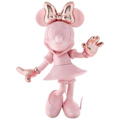 In Stock in Los Angeles, Minnie Mouse Pink / Rose Gold Glossy Pop Figurine