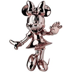 In Stock in Los Angeles, Minnie Mouse Rose Gold Metallic, Pop Sculpture Figurine