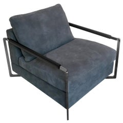 In Stock in Los Angeles, No Logo Grey Armchair by Sergio Bicego, Made in Italy