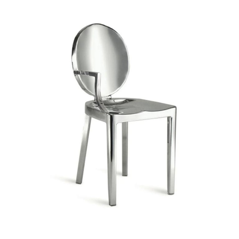 Modern In Stock in Los Angeles, Set of 8 Kong Polished Aluminum Chairs, Philippe Starck For Sale