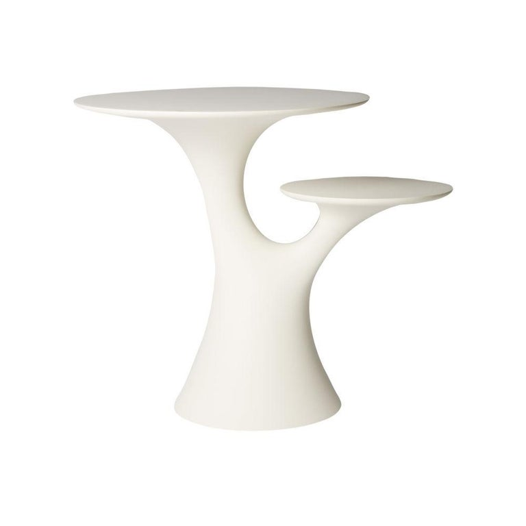Contemporary In Stock in Los Angeles, Set of White Rabbit Chairs & Table, Stefano Giovannoni For Sale