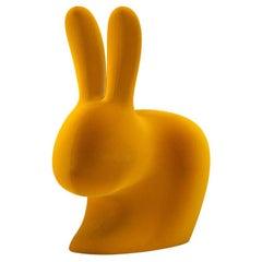 In Stock in Los Angeles, Velvet Dark Gold Rabbit Door Stopper / Bookends