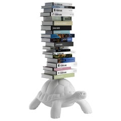 White Turtle Bookcase, by Marcantonio, Made in Italy