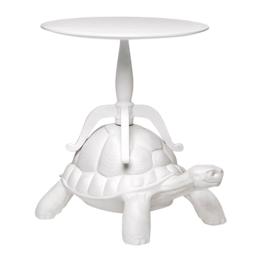 In Stock in Los Angeles, White Turtle Coffee Table, Designed by Marcantonio