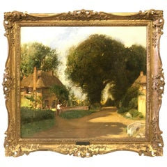 'In Sussex Lane' by Sir David Murray Oil Painting on Canvas