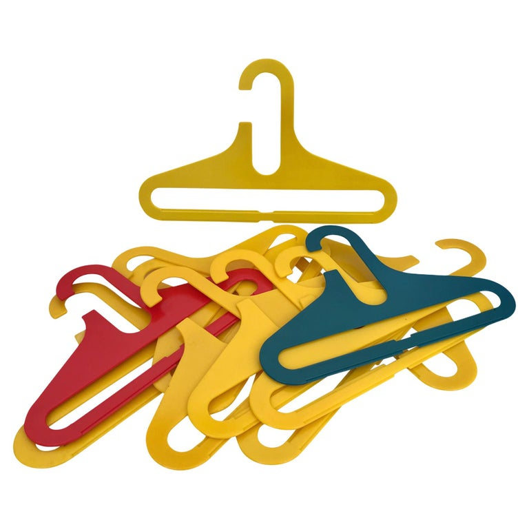 In the Manner Ingo Maurer POP Modern Plastic 11 Children's Clothes Hangers 1970s For Sale