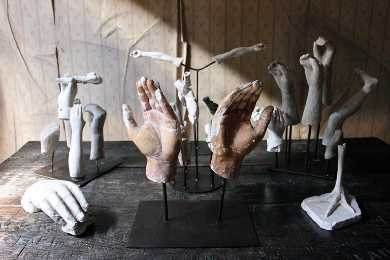In the Manner of Eduardo Paolozzin Group of 23 Plaster Maquettes 8
